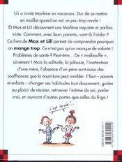 Marlène grignote tout le temps - 4ème de couverture - Format classique