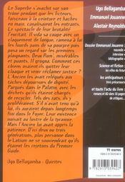 Revue Bifrost N.43 ; Dossier Emmanuel Jouanne - 4ème de couverture - Format classique