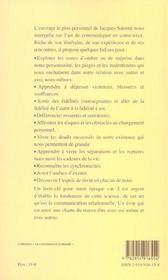 Courage D'Etre Soi (Le) - 4ème de couverture - Format classique