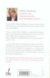 J'Avais 12 Ans J'Ai Pris Mon Velo Et Je Suis Partie A L'Ecole - 4ème de couverture - Format classique