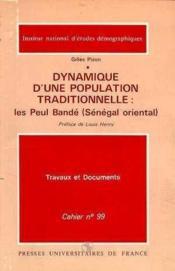 Dynamique Population Traditionnelle Cahier 99 - Couverture - Format classique