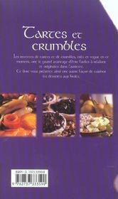 Tartes et crumbles - 4ème de couverture - Format classique