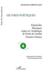 Oeuvres poétiques - Couverture - Format classique