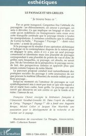 Paysage Et Ses Grilles )Colloque De Cerisy - 4ème de couverture - Format classique