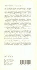 Theodore monod, une vie spirituelle - 4ème de couverture - Format classique