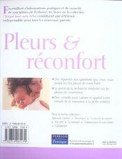 Pleurs et reconfort - 4ème de couverture - Format classique