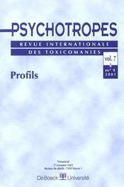 Revue Psychotropes N.7/1 ; Profils - Intérieur - Format classique