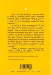 Empereur et galileen - 4ème de couverture - Format classique