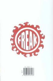 Freak T.1 - 4ème de couverture - Format classique