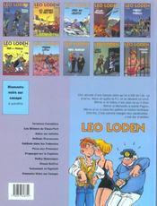Léo Loden t.7 ; propergol sur le capitole - 4ème de couverture - Format classique