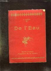 De L Eau. - Couverture - Format classique