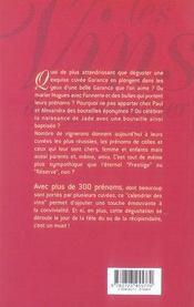 Les vins du calendrier ; les cuvées qui portent un prénom - 4ème de couverture - Format classique