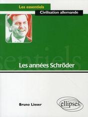 Les années schröder - Intérieur - Format classique