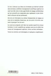 Mathematiques Tremplin Pour La Prepa - 4ème de couverture - Format classique