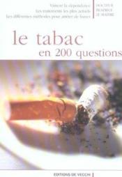 Tabac En 200 Questions (Le) - Couverture - Format classique