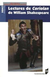 Lectures de Coriolan de William Shakespeare - Couverture - Format classique