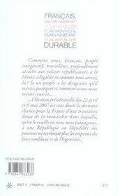 Français, encore un effort pour passer d'une monarchie bananière à une république durable - 4ème de couverture - Format classique