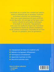 L'Escalade - 4ème de couverture - Format classique