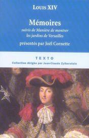 Mémoires de Louis XIV - Intérieur - Format classique