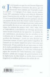 Mémoires de Louis XIV - 4ème de couverture - Format classique