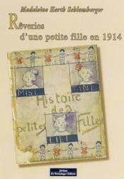 Rêveries d'une petite fille en 1914 - Couverture - Format classique