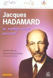 Jacques hadamard, un mathematicien universel - Intérieur - Format classique