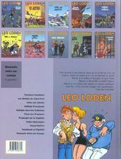 Léo Loden t.8 ; vodka mauresque - 4ème de couverture - Format classique