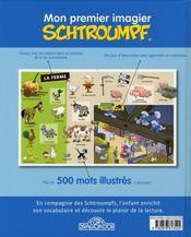 Mon Premier Imagier Schtroumpf - 4ème de couverture - Format classique