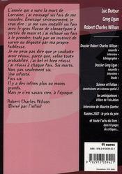 Revue Bifrost N.45 ; Robert Charles Wilson - 4ème de couverture - Format classique