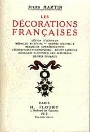 Les Decorations Francaises - Couverture - Format classique