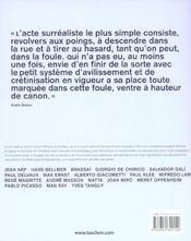 Surréalisme - 4ème de couverture - Format classique