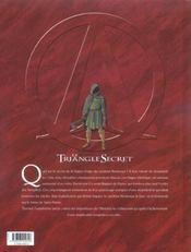 Le triangle secret - I.N.R.I. t.1 ; le suaire - 4ème de couverture - Format classique