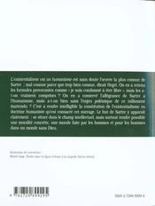 L'Existentialisme Est Un Humanisme Sartre Texte Et Commentaire - 4ème de couverture - Format classique