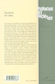 Revue Espaces Et Societes N.100 - 4ème de couverture - Format classique