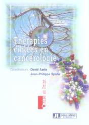 Therapies Ciblees En Cancerologie - Couverture - Format classique