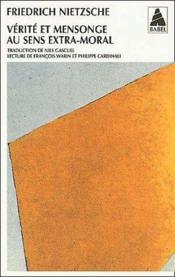 Verite Et Mensonge Au Sens Extra-Moral (Ne) Babel 302 - Couverture - Format classique