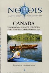 Revue Norois T.199 ; Canada. Immigration, Espaces Urbanisés, Parcs Nationaux, Loisir Patrimonial - Intérieur - Format classique