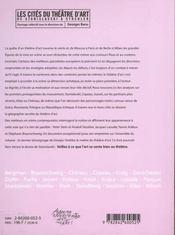 Les Cites Du Theatre D Art - 4ème de couverture - Format classique