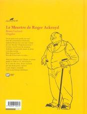 Agatha Christie t.8 ; le meurtre de Roger Ackroyd - 4ème de couverture - Format classique