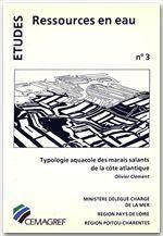 Typologie aquacole des marais salants de la côte atlantique - Couverture - Format classique