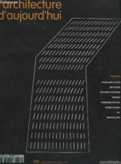 Revue L'Architecture D'Aujourd'Hui N.324 ; Projets - Couverture - Format classique