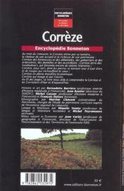 Corrèze - 4ème de couverture - Format classique