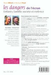 Dangers de l'ecran (les) - 4ème de couverture - Format classique