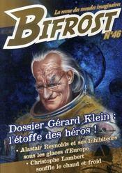 Dossier Gérard Klein : l'étoffe des héros - Intérieur - Format classique