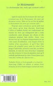 Mokimanke - 4ème de couverture - Format classique