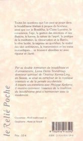 Dharma Et La Vie (Le) - 4ème de couverture - Format classique