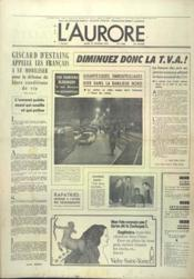 Aurore (L') N°9483 du 27/02/1975 - Couverture - Format classique