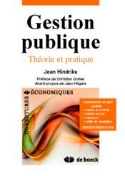Gestion publique ; théorie et pratique - Couverture - Format classique