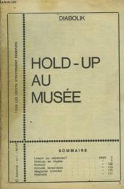 Diabolik. Hold Up Au Musee. - Couverture - Format classique