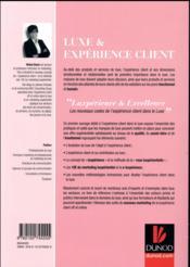 Luxe et expérience client - 4ème de couverture - Format classique